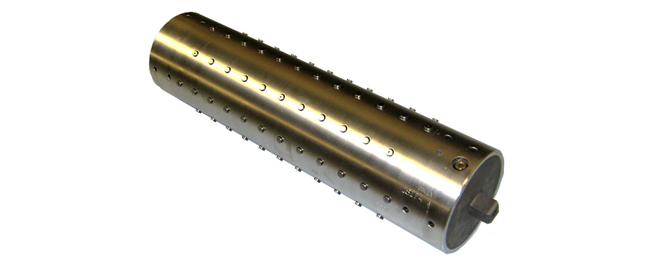 "Aluminum Button Shaft for 8"" Core"
