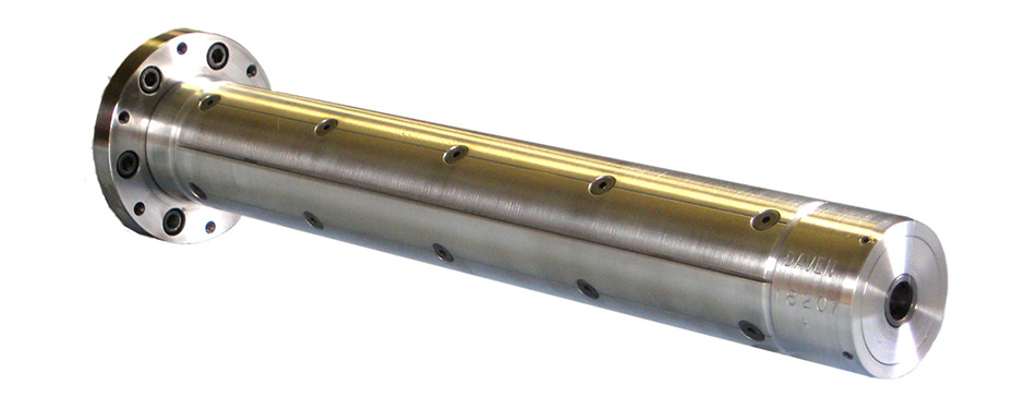 "Aluminum Leaf Shaft for 3"" Core or Coreless Winding with Flanged End"