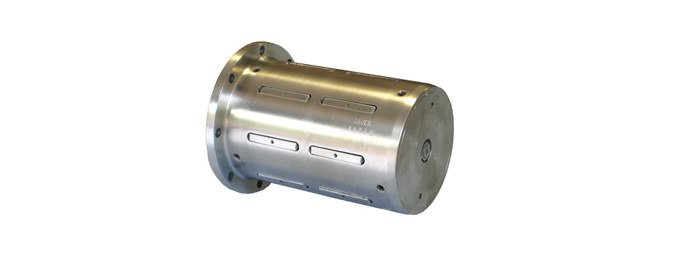 "Aluminum Lug Style Shaft, 8"" O.D. with Flanged End"