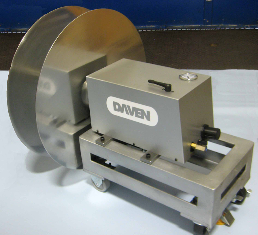 Portable Pneumatic Winder on Cart with Flanges by Daven Manufacturing